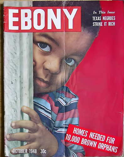 Homes Needed for 10,000 Brown Babies (Interracial Children of War) - Ebony Magazine, October, 1948
