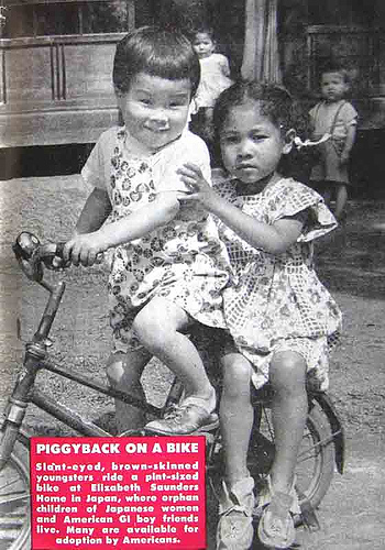 Piggyback on a Bike - Hue Magazine June 16, 1954
