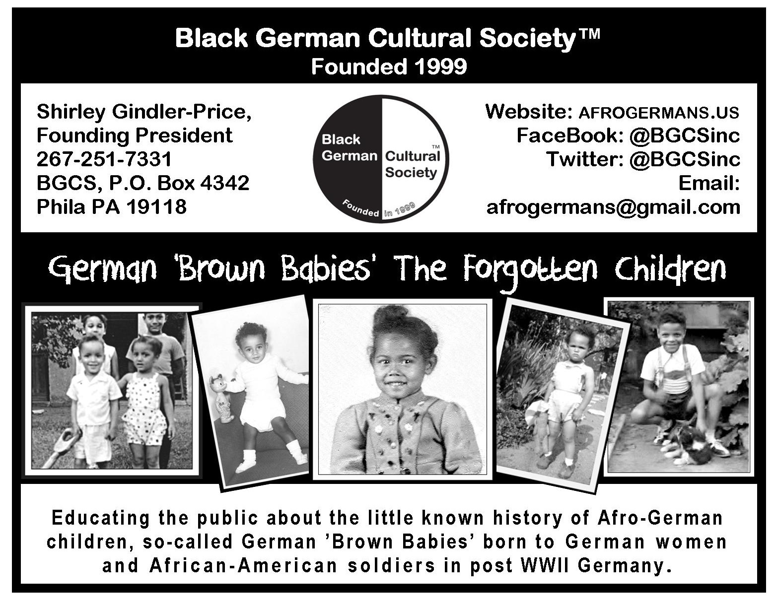 german brown babies black german cultural society official post card jpg